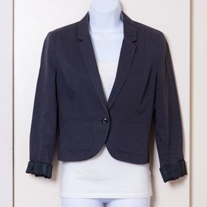 Forever 21 Charcoal Cropped Blazer